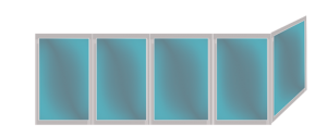 Остекление балконов 45 секций