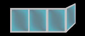 Остекление г-образных балконов
