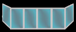 Остекление п образных балконов