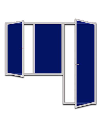 Пластиковые балконные блоки со створкой и дверью