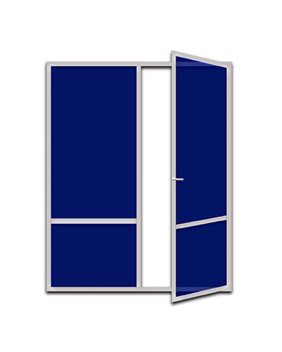 Француз с одной дверью для выхода на балкон