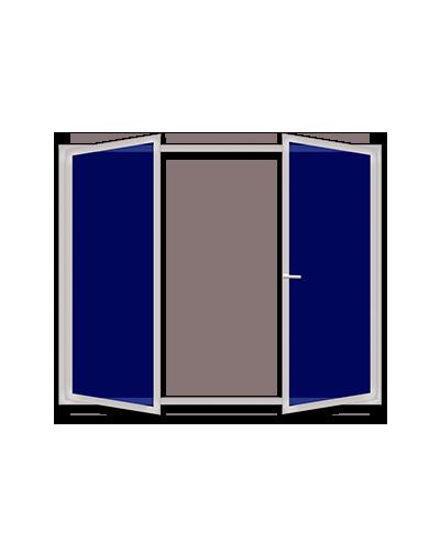 Двустворчатые пластиковые окна без центрального импоста